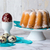 Pound cake and easter eggs stock photo © laciatek