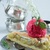 ruibarbo · torta · alimentos · madera · verano · rojo - foto stock © laciatek