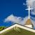 kerk · horizontaal · oude · blauwe · hemel · witte · wolken - stockfoto © lameeks
