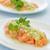 lazac · zöldhagyma · mártás · hal · kék · tányér - stock fotó © LAMeeks