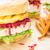 sandviç · ananas · sıcak · taze · Hawaii · tost - stok fotoğraf © lameeks