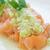 lazac · zöldhagyma · mártás · hal · narancs · kék - stock fotó © LAMeeks