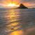 帽子 · 日の出 · ビーチ · 雲 · 風景 · オレンジ - ストックフォト © LAMeeks