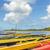 熱帯ビーチ · 風景 · 赤 · カヌー · ボート · 海 - ストックフォト © lameeks