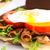 açmak · blt · sandviç · beyaz · plaka · mavi - stok fotoğraf © lameeks