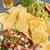 guacamole and pico de gallo stock photo © lameeks