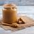 cuchara · de · madera · manteca · de · cacahuete · grasa · comer · bordo · frescos - foto stock © lana_m