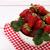 organikus · eprek · fehér · csésze · érett · piros - stock fotó © lana_m