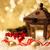 сжигание · свечу · рождественская · елка · bokeh · Рождества · украшения - Сток-фото © lana_m
