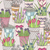 cute seamless floral pattern pattern with flowers in buckets stock photo © lapesnape