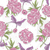 seamless pattern with rose flowers hearts and jewelry floral b stock photo © lapesnape