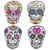 mexican skull set colorful skulls with flower heart ornament stock photo © lapesnape