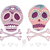 mexican skull set colorful skulls with flower and heart stock photo © lapesnape