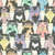 seamless pattern with hipster cute cats for children stock photo © lapesnape