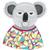 Cartoon · koala · funny · flor · sonrisa · fiesta - foto stock © lapesnape