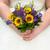 bride holding a sunflower bouquet stock photo © leeavison