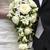 novia · novio · ramo · de · la · boda · blanco · rosas · boda - foto stock © leeavison