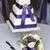 esküvői · torta · virágcsokor · lila · virágok · esküvő · asztal - stock fotó © leeavison