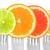 narenciye · yalıtılmış · beyaz · kireç · turuncu · greyfurt - stok fotoğraf © leeavison