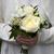 dama · de · honor · ramo · de · la · boda · ramo · blanco · rosas - foto stock © leeavison