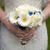 menyasszony · tart · virágcsokor · rózsák · esküvő - stock fotó © leeavison