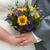 bride and groom holding a wedding bouquet stock photo © leeavison