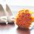 свадьба · обувь · букет · оранжевый · роз · никто - Сток-фото © leeavison