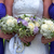 bride and bridesmaids with wedding bouquets stock photo © leeavison