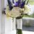 esküvői · csokor · ablak · fehér · lila · rózsák · virágcsokor - stock fotó © leeavison