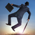 empresario · saltar · aire · foto · traje - foto stock © leeavison