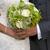 bride and groom with wedding bouquet stock photo © leeavison