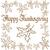 mutlu · Şükran · Günü · kaligrafi · metin · tebrik · kartı · yalıtılmış - stok fotoğraf © leedsn