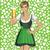 vetor · mulher · dia · bonitinho · dia · de · São · Patricio - foto stock © leedsn