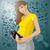terhes · nő · sziluett · zöld · család · naplemente · terhes - stock fotó © leedsn