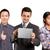 アジア · チーム · ビジネスマン · タッチ · 男 · スーツ - ストックフォト © leedsn