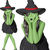 vector green witch woman with hat on halloween stock photo © leedsn