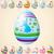 iyi · paskalyalar · kart · renk · yumurta · bahar · çiçekleri · tebrik · kartı - stok fotoğraf © leedsn