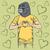 macaco · convite · ilustração · bonitinho · desenho · animado · sorrir - foto stock © leedsn