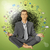vector businessman in lotus pose meditating stock photo © leedsn