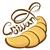 croissant · icon · vector · lang · schaduw · web - stockfoto © leedsn