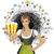 vector · cute · vrouw · oktoberfest · bier · meisje - stockfoto © leedsn