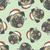 christmas pug dog vector seamless pattern illustration stock photo © leedsn