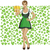 vector woman in drindl on saint patricks day stock photo © leedsn