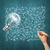 idéia · mão · humana · dinheiro · lâmpada · esboço · lápis - foto stock © leedsn