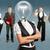business · team · lamp · hoofd · idee · verschillend · achtergronden - stockfoto © leedsn