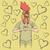 haan · Valentijn · dag · vector · hoofd · menselijke - stockfoto © leedsn