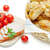 puff pastry patties with ham and cherry tomatoes stock photo © leftleg