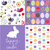 set of cute seamless easter background patterns stock photo © lemony