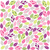 Colorful plant pattern with fabric texture stock photo © lemony