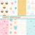 gelukkige · verjaardag · kaart · ingesteld · ballonnen · confetti · illustratie - stockfoto © lemony